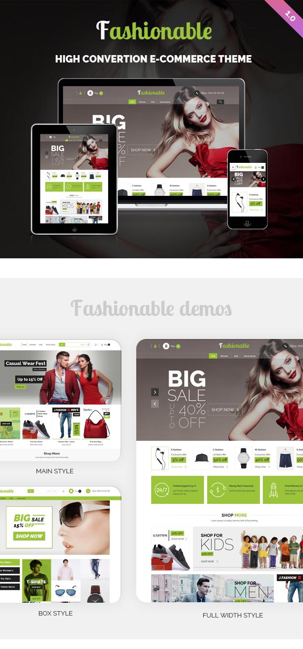 Fashionable WordPress Theme Preview