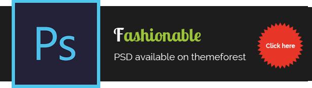 Fashionable PSD